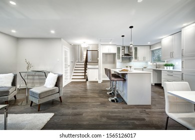 Renovated luxury Canadian house staged for sale