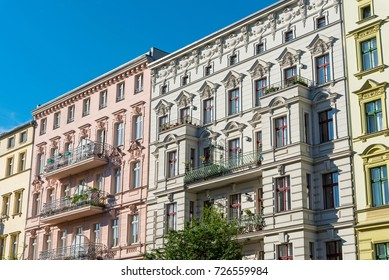 Renovated old houses seen at the Prenzlauer Berg district in Berlin, Germany