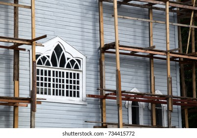 The renovation of a church.