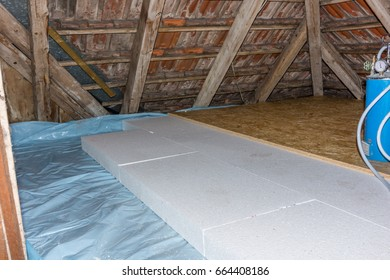 Renovation of an old attic's floor
