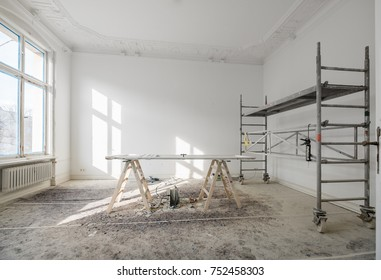 renovation - old flat during renovation  / restoration -