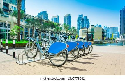 rent a bike in Dubai Marina city district