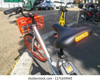 Rent Bike Sharing Service in the Street of Milan,Italy-September 2018