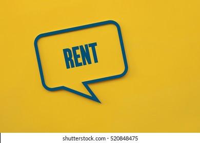 Rent, Business Concept