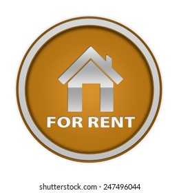 For rent circular icon on white background