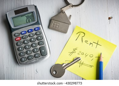 Rent house or apartment concept - Monthly rentals - Rental prices concept