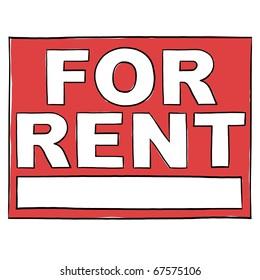 For rent sign; Rental home sign