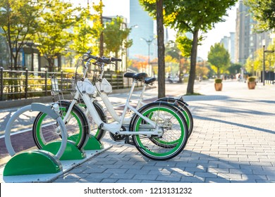 Rental Bikes in Seoul, South Korea. Use app and rent price is very cheap