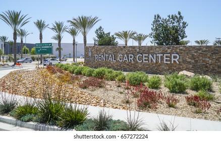 Rental Car Center at San Diego International Airport - SAN DIEGO / CALIFORNIA - APRIL 21, 2017