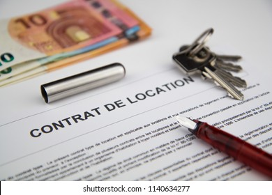 rental contract document for france people