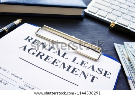 Rental Lease Agreement Pen On Desk Stock Photo Edit Now 1144538291