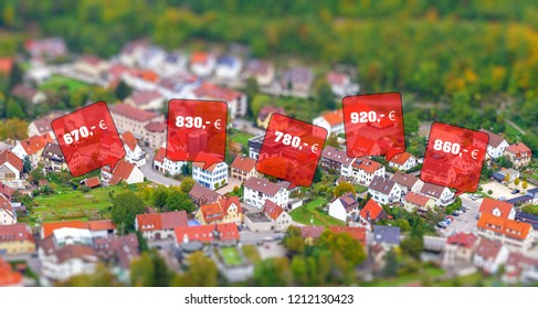 Rental prices for dwellings in a small town - Germany, Baden Württemberg
