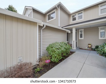 Renton, WA / USA - March 11, 2019: Residential exterior