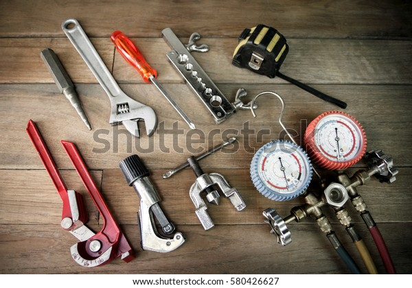 Air Conditioning Tools >> Repair Air Conditioner Tools Stock Photo Edit Now 580426627