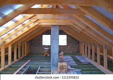 Repair of the attic for the living room.
