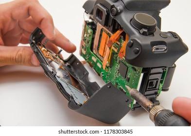 Repair of a broken digital SLR camera
