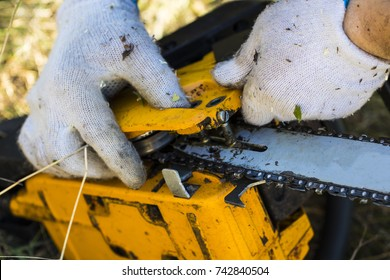 Repair of chainsaws. Old saw broke down on the job.