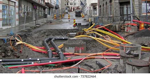Utility Pipes And Cables : Underground utilities images stock photos vectors