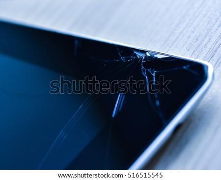 Repair Computer Tablet Broken Touch Screen Stock Photo (Edit Now