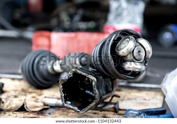 Cv Joint Repair >> Repair Drive Shaft Cv Jointcar Maintenance Stock Photo Edit