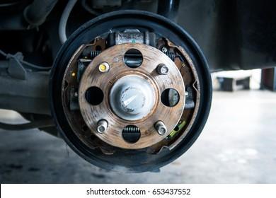 Repair Drum brake,Change brake pads new