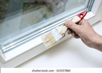 repair, dye, paint, window,  roller, hand