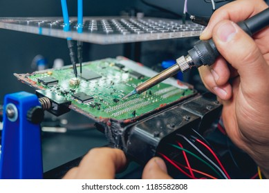 Repair of electronic devices, soldering and circuit board. Auto repair service.