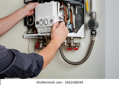 Repair of a gas boiler.