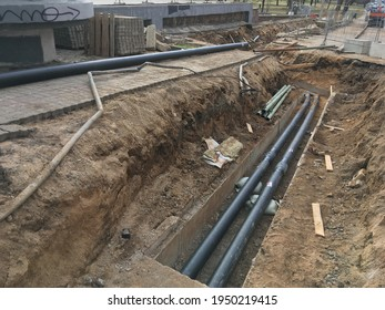 Repair gas pipeline earth trench