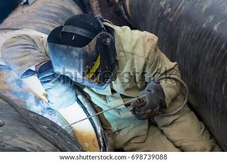 Repair Heating Duct Workers Welders Made Stock Photo (Edit Now