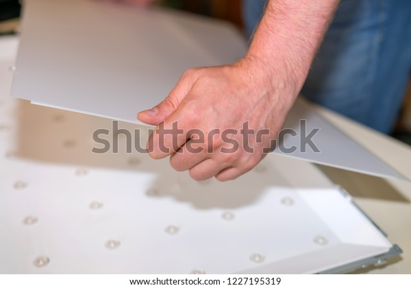 Repair Led Backlight Large Modern Lcd Stock Photo (Edit Now) 1227195319