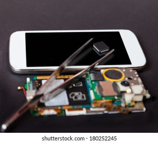 repair of mobile devices, electronics background