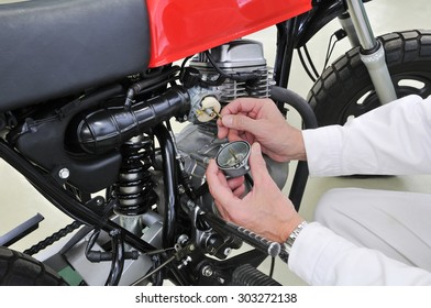 Repair of motor cycle