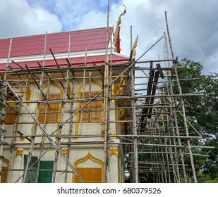 Repair old temple