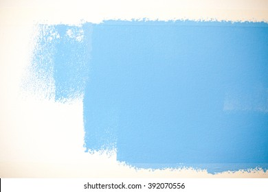 repair, painting, blue, color, paint, roller,
