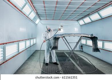 Repair and painting car car mechanic