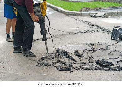repair of roads in the city