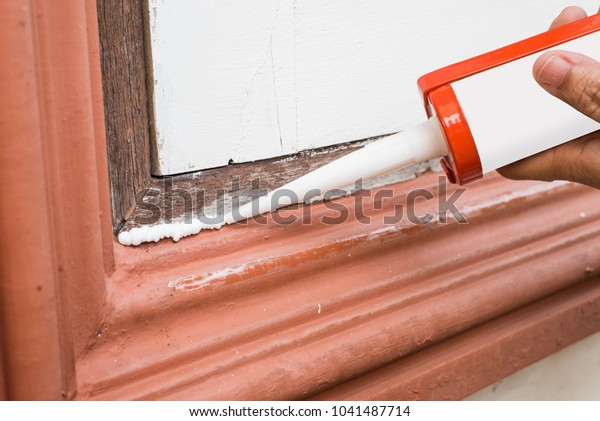 Repair Seal Window Frame By Silicone Stock Photo (Edit Now) 1041487714