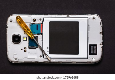 repair smart phone electronic background