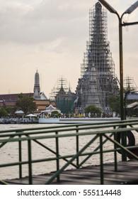 repair the temple Wat Arun in Bangkok