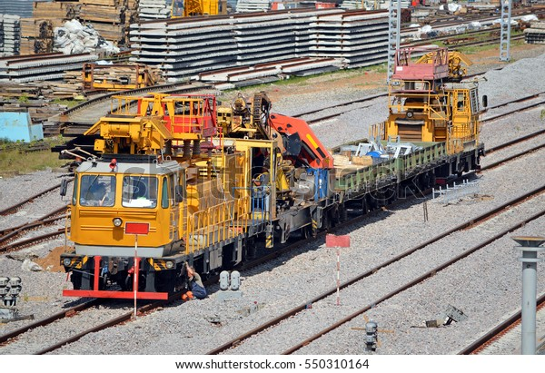 Repair Train Diesel Rail Car On Stock Photo (Edit Now) 550310164
