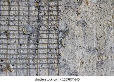 Repair wall reinforcement. Concrete base repair. Construct architecture groundwork