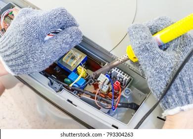 Repair washing machine motherboard.