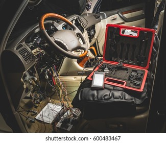 repair the wiring of the car, diagnostics, exterior, wire