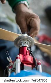 Repairing airplane blade
