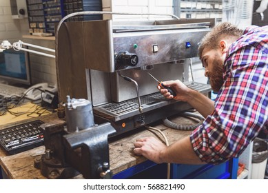 Repairing of broken coffee machine