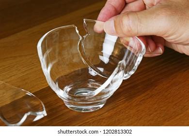 Repairing broken cup.