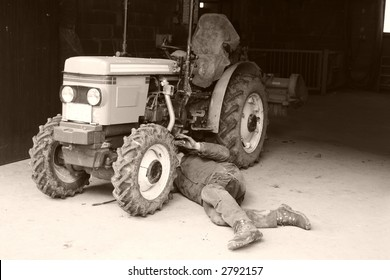 Repairing a tractor