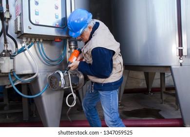 repairman during maintenance work