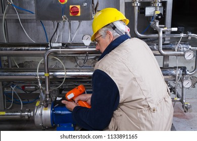 repairman at maintenance work